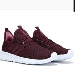 Adidas cloudfoam pure maroon sneaker red 7.5